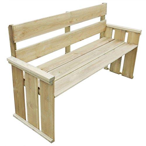 Furnituredeals Banc de jardin en bois de pin imprégné 160 x 55 x 89 cm.La Banc sont confortable et élégant et Sara merveilleuse dans le jardin