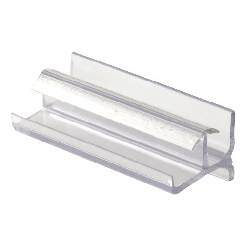 Prime-Line Products 193086 Shower Door Bottom Guide, Clear, Gray