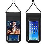 Sword Art Online Bolsa de teléfono móvil impermeable 0.3mm Material ultrafino sensible al tacto ningún retraso portátil