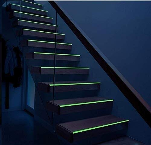 Resplandor Fuerte En La Etiqueta Adhesiva De Cinta Luminosa Verde Oscuro 33 Pies X 1 Pulgada De Seguridad Fotoluminiscente/Luminiscente Luminosa De Emergencia