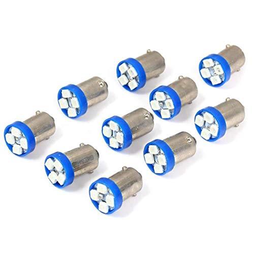 Hiinice 10 Piezas de 1156 BAS9 Azul del Punto de luz de Coches Intermitente Luz reversa de Reserva de CC de 12 V para Todo Terreno, Camiones, Coches, vehículos Todo Terreno, SUV, Jeep