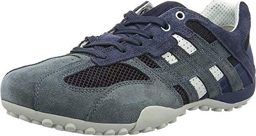 Geox Uomo Snake K, Zapatillas para Hombre, Azul (Avio/Black), 39 EU