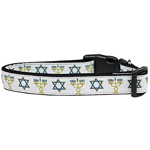 Mirage Pet Products Jewish Traditions Nylon Dog Collar, Medium