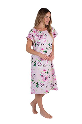 Gownies - Designer Hospital Patient Gown, 100% Cotton, Hospital Stay (Small/Medium, Amelia)