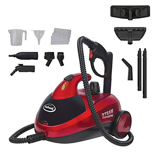 Photo of Ewbank SC1000 Dynamo Steam Cleaner, Multifunctional Steam Mop with Multiple Attachments, Perfect for Floors, Carpet, Garment, Windows, Red