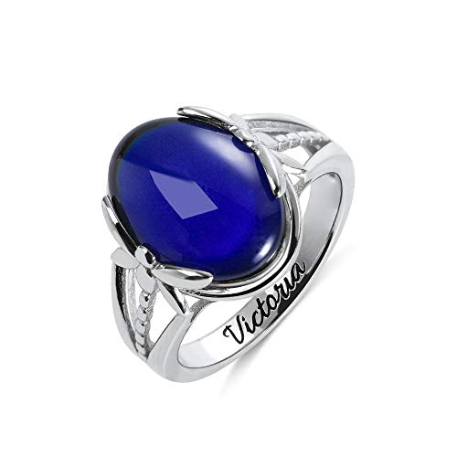 anello donna umore Anello in argento Sterling con pietra d'umore che cambia colore