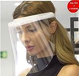 Fredo® Visier aus Kunststoff -Transparentes Aufklappbares Gesichtsvisier - 1 X Halter mit je 3...