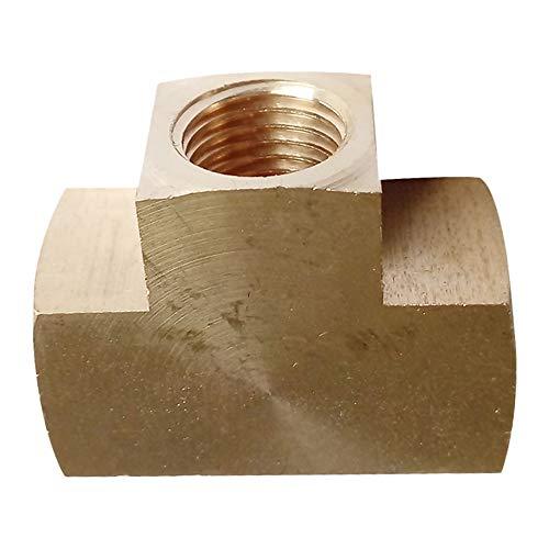 Precisiongeek Allu Completo di porta 1//8 NPT filettatura maschio raccordo adattatore tubo flessible 5-6mm 1//4 pollice
