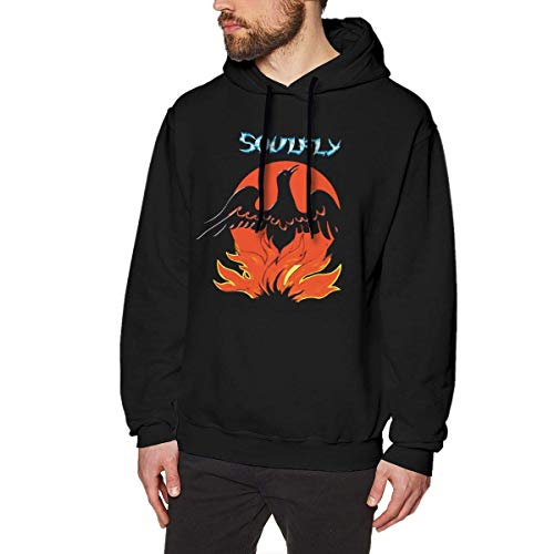 lifangtaoT Hombre Sudaderas con Capucha, Soul_Fly Primi_tive Fashion Men Hoodies Without Pockets Black