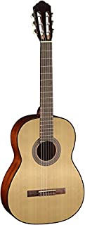 Cort AC100OP Spruce Top Mahogany Back & Sides Classical Guitar, Natural Open Pore