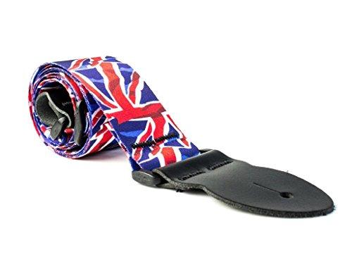 LeatherGraft Brits Rood Wit Blauw Union Jack Gedrukt Vlag Land Nationaal Ontwerp Gitaar Band