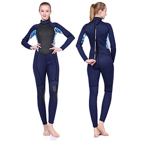 Traje de Neopreno de Invierno Ultra Elástico para Mujer, 3mm Neopreno Trajes de Buceo Térmico Siameses De Una Pieza para Buceo, Snorkel, Surf, Natación,A-M