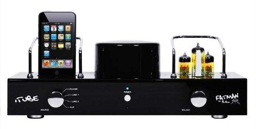 Fatman iTube ValveDock Carbon Edition II Audiosystem (Röhrenverstärker, Dock) für Apple iPod schwarz