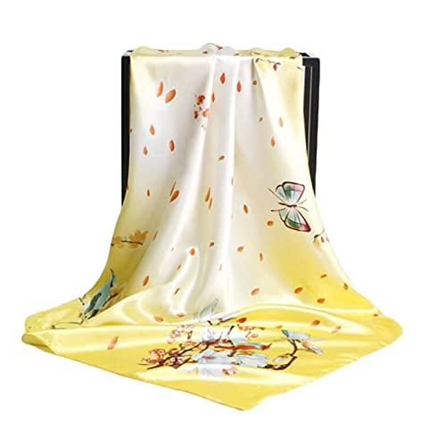 Nuevo 90 Cm Estampado Floral Bufanda Retro Cuadrado Toalla De Fiesta De Fiesta Bufanda (Color : 1)