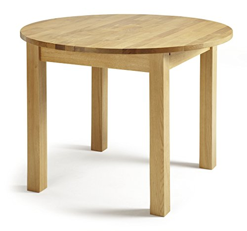 Serene Furnishings Sutton Solid Oak Round Extendable Dining Table