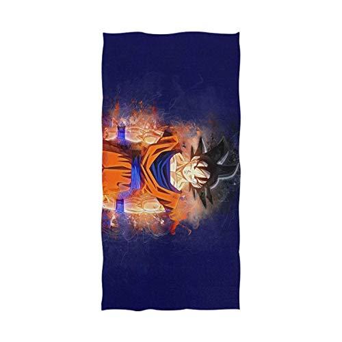 Jesse Tobias Dragon Ball Goku Toalla de baño Toalla de Playa de Gran tamaño Uso como Yoga Viaje Camping Gimnasio Toallas de Piscina en la Playa Carro Sillas de Playa