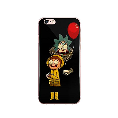 ZIZZDess Cool Cartoon Case for Apple iPhone 7 Plus / 8 Plus 2017 Protective Case Clear Transparent Silicone Flexible Design Art Cover