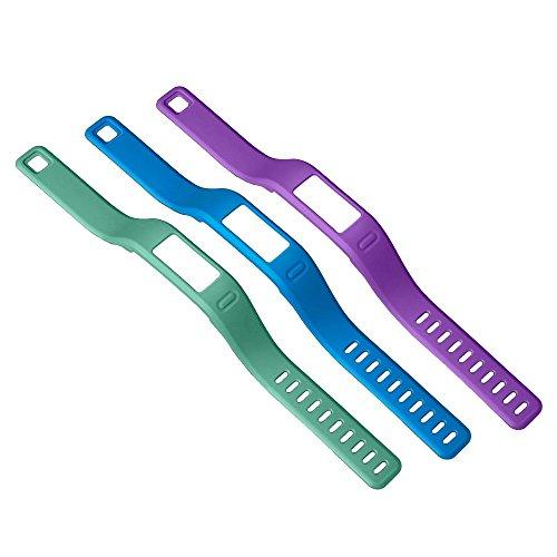 Garmin - Pack de 3 bracelets de couleurs pour Vivofit (Vert, Bleu, Violet) - Large