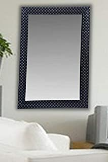 JMD Arts n Designs Sober Black Fiber Wood Wall Mirror || Size - 15 X 21 Inch || Solid Premium Black Water Resistant Synthetic Fiber Wood Made