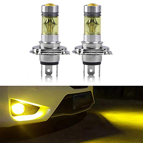 juler Ampoule LED jaune anti-brouillard H4 100 W 4300 K - Fonctionnement diurne