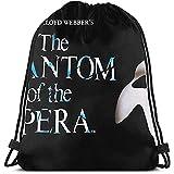 KSSChr Bolsas de cuerdas con mochila con cordón Phantom Of The Opera Hombres y mujeres viajan mochilas de compras de fitness.