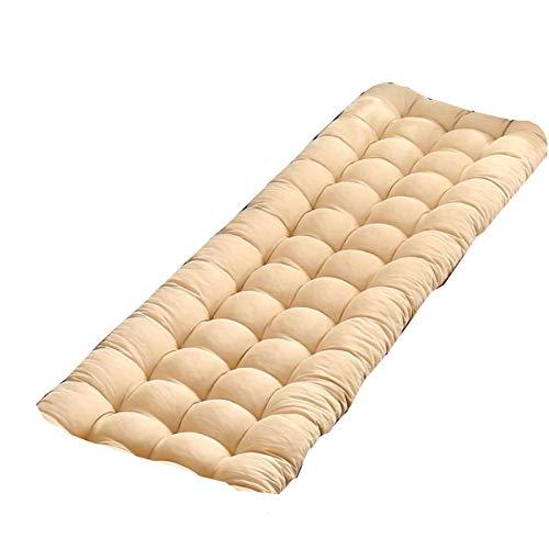 Cojín de banco de jardín para patio, cojín largo para asiento de interior y exterior, suave colchón, 120 x 48 cm, 8 cm de grosor, 160 x 48 x 8 cm