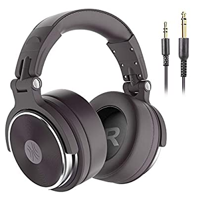OneOdio Hi-Res Over Ear Headphone Wired Closed-Back DJ Studio Headphones for Monitoring, Mixing Music Lover, Thick Soft Protein Leather Earcups, Noise Isolation, Portable (Upgraded Version) by Oneodio