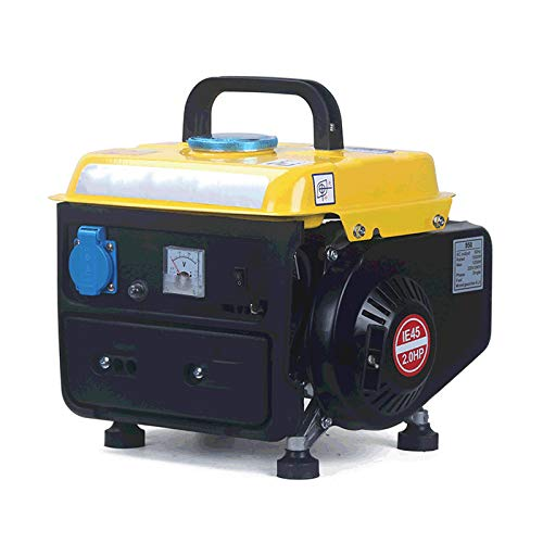 LYYAN Generador de Gasolina portátil, Mini generador Manual silencioso para el hogar Utilizado para emergencias de Caza y Campamento al Aire Libre