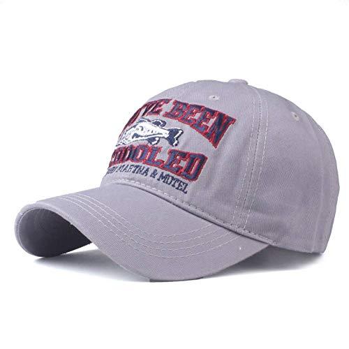 FXSYL Baseball Cap Gute qualit Baseball Cap für Mich ausgestattet Kappe Snapback Hut für Frauen Gorras Casual Casquette Stickerei Fisch Kappe,d2