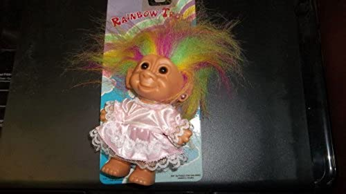 Rainbow Trolls Pre Rare on Card (1992) by Bright of America