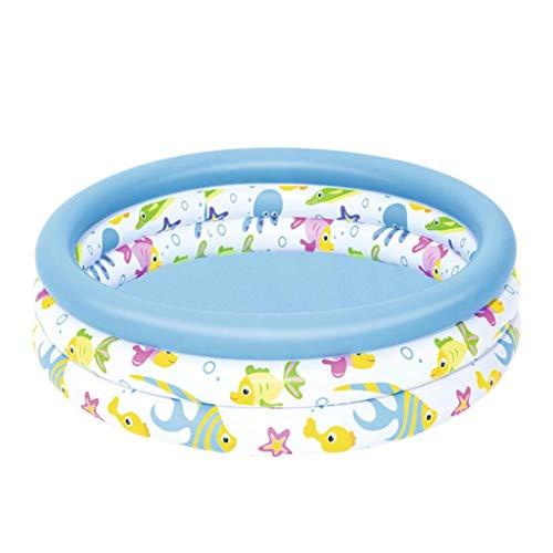 Ownlife Piscina for niños inflables del Agua Juguetes Bañera Familia Grande Piscina en Verano fácil de inflar con 3 válvulas separadas