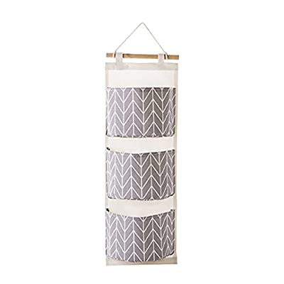 XLSTORE 3 Grids Wall Hanging Storage Bag Organi...