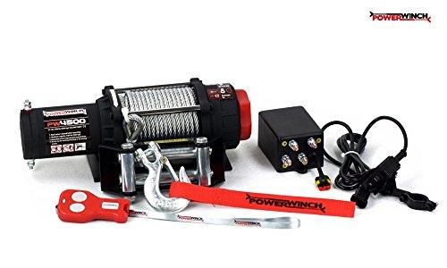Powerwinch Elektrische Seilwinde 4500lbs ATV 12V 2040kg Funk UTV Quad Offroad