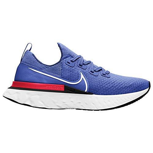 Nike React Infinity Run FK, Zapatillas para Correr Hombre, Racer Blue White BRT Crimson Black, 47 EU