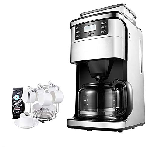 New JINRU Coffee Maker, Freshly Milled Automatic Coffee Machine, Mini Small, Suitable for Schools, O...