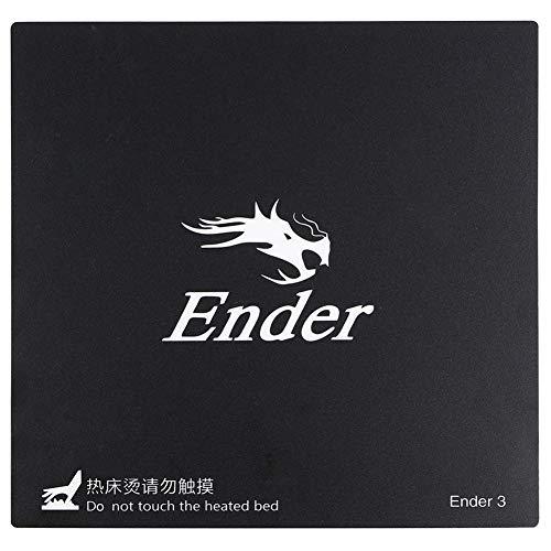 Gesh Abnehmbare Glasfaserplatte für 3D-Drucker, Heizbett-Aufkleber, Bauplatte für Ender-3, Größe 235 mm