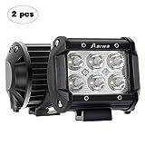 AAIWA Phare de Travail à LED, 4'' 18W Phare LED Voiture 2 Pièces 12V 24V Spot LED...