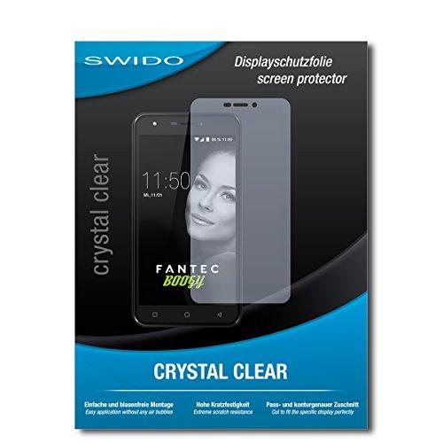 SWIDO Bildschirmschutz für FANTEC Boogy [4 Stück] Kristall-Klar, Hoher Härtegrad, Schutz vor Öl, Staub & Kratzer/Schutzfolie, Bildschirmschutzfolie, Panzerglas Folie