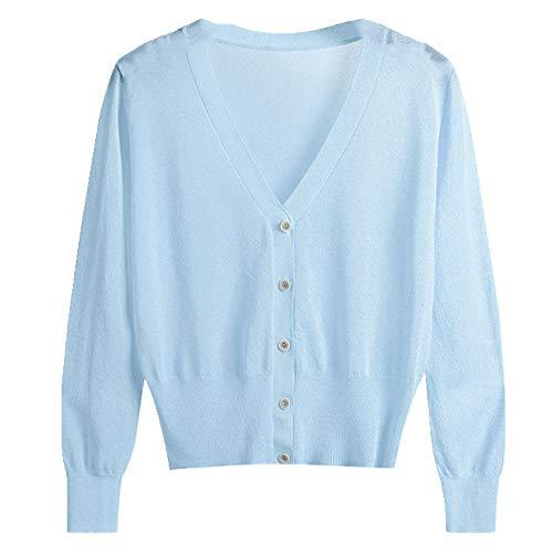 NP Dunne trui voor dames, lente en zomer, zonwerend vest - blauw - XXL