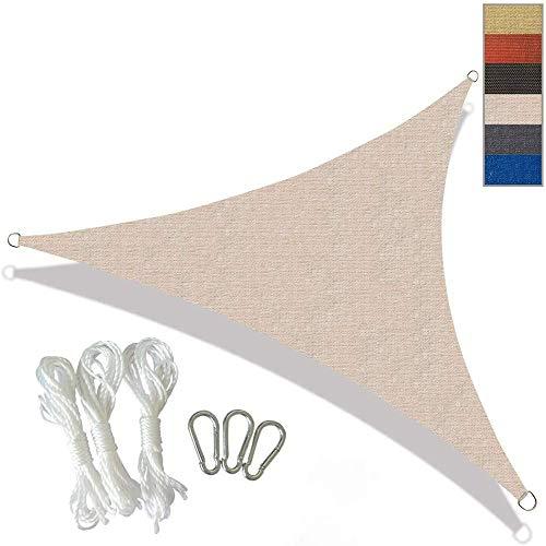 La cortina de Sun Sail Triángulo Canopy Toldo UV bloque de la sombrilla Velas for patios al aire libre del patio trasero Patio Estacionamiento Piscina Jardín, Grey, 3X3X3M, Tamaño: 4X4X4M, color: negr