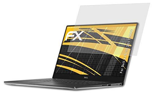 atFolix Panzerfolie kompatibel mit Dell XPS 15 2017 9560 Schutzfolie, entspiegelnde & stoßdämpfende FX Folie (2X)