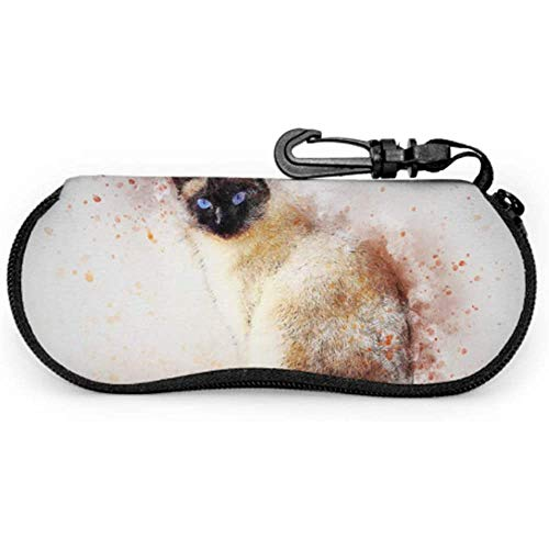 Cat Siamese Animal Art Pet Abstract Watercolour Glasses Fundas para niños Funda de gafas de sol Estuche Estuche de gafas de sol para hombres