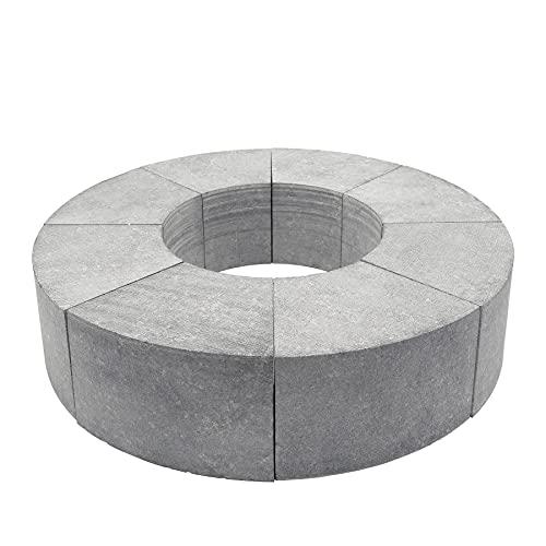 H&M Speckstein-Speicher-Ring Höhe 10cm 8-teilig Einzelne Elemente Wärmespeicher 1/8-Kreis aus Naturstein für H&M Modelle Evo Mono und andere runde Öfen