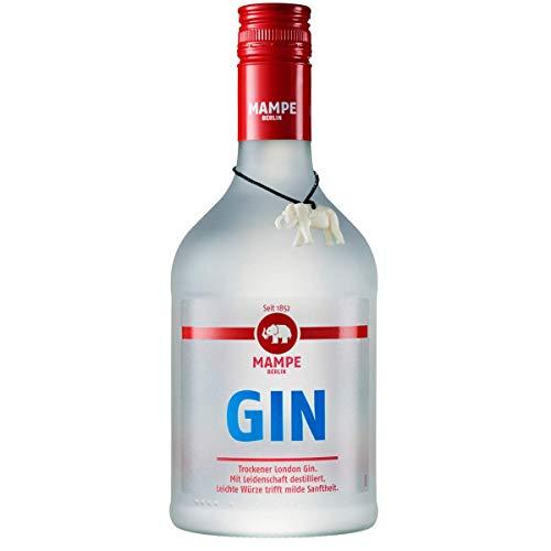 Mampe London Dry Gin | Gin aus Berlins ältester Spirituosenmanufaktur – Tradition seit mehr als 160 Jahren | 1 x 0.7 Liter | 40% Vol. | Berliner Gin mit Geschichte