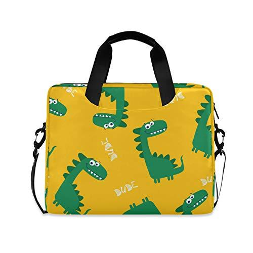 OOWOW Laptop Bag for Women Men Cute Dinosaur Lightweight Briefcase 14 15.6 16in Laptop Sleeve Case Computer Shoulder Messenger Bag