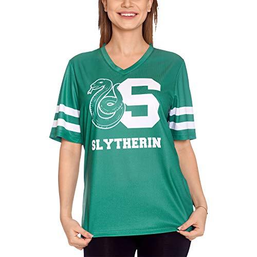 Elbenwald Harry Potter T-Shirt Team Slytherin für Damen und Herren grün - M