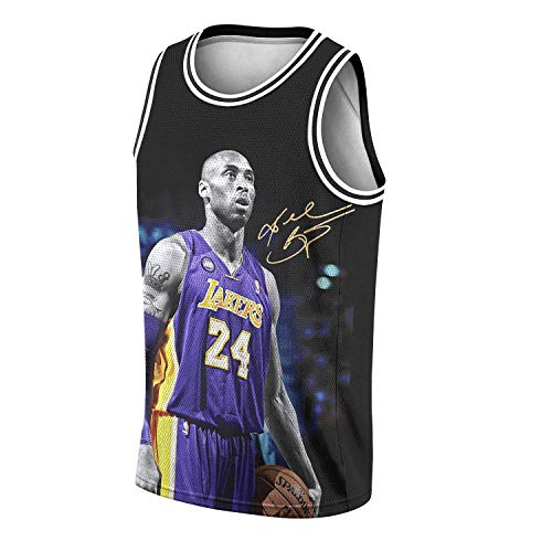 ZHIDAONNU RIP Legend 8 24 Mesh Athletic Sports Basketball Jersey for Mens Tank Top