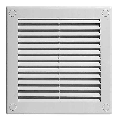 Awenta - Rejilla de ventilación (plástico abs, 150 x 150 mm) color blanco