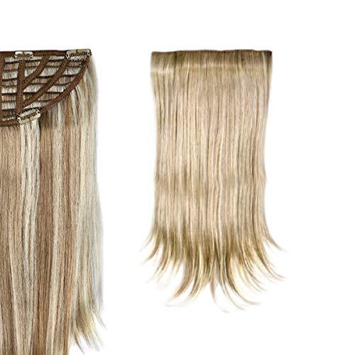 SANGRA HAIR Extensiones de cabello de fibra con memoria Lisas Pelo sintético 1 pieza completa 50 cm largo 95gr para mujer – Apto para plancha hasta 160ºC – Conserva estilo tras el lavado. (Negro (M1))