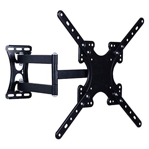 Soporte de TV giratorio telescópico, soporte de TV LCD, montaje de pared universal, expansión y contracción libres, rotación de 90 grados a la izquierda y a la derecha, adecuado para TV de 32-49 pulga